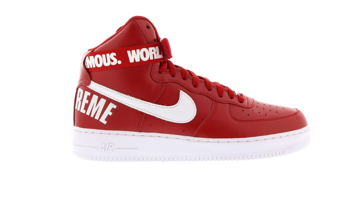 Air Force 1 High Supreme World Famous Red