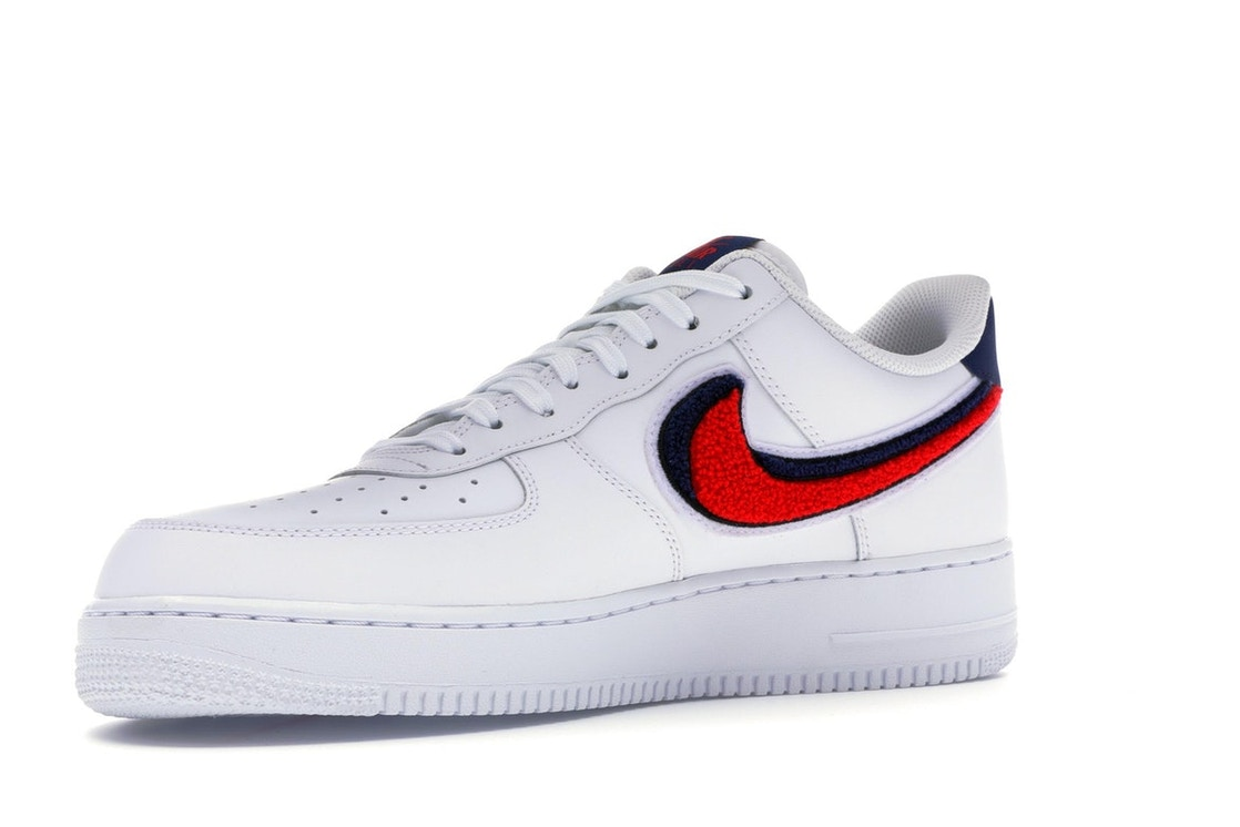 c6f11843c5a Air Force 1 Low 3D Chenille Swoosh White Red Blue - 823511-106