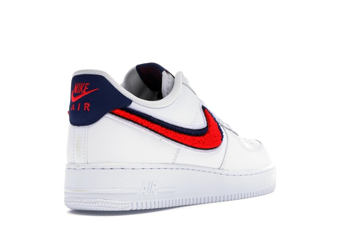 new arrival 4e97b aa512 Air Force 1 Low 3D Chenille Swoosh White Red Blue - 823511-106