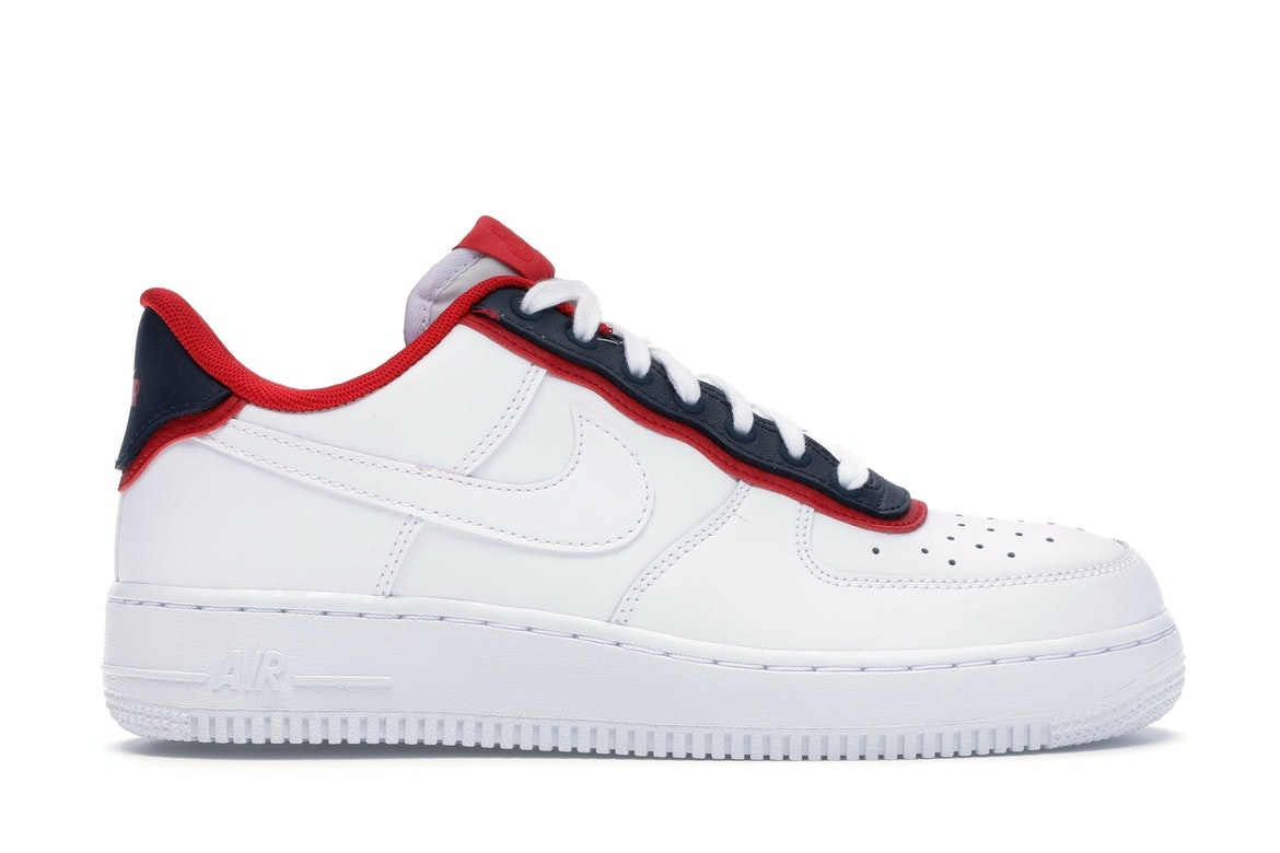 Air Force 1 Low Double Layer White Obsidian Red