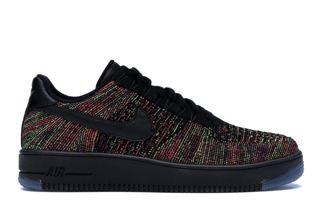 check out 1e614 2b0d9 Air Force 1 Low Flyknit Black Multi-Color