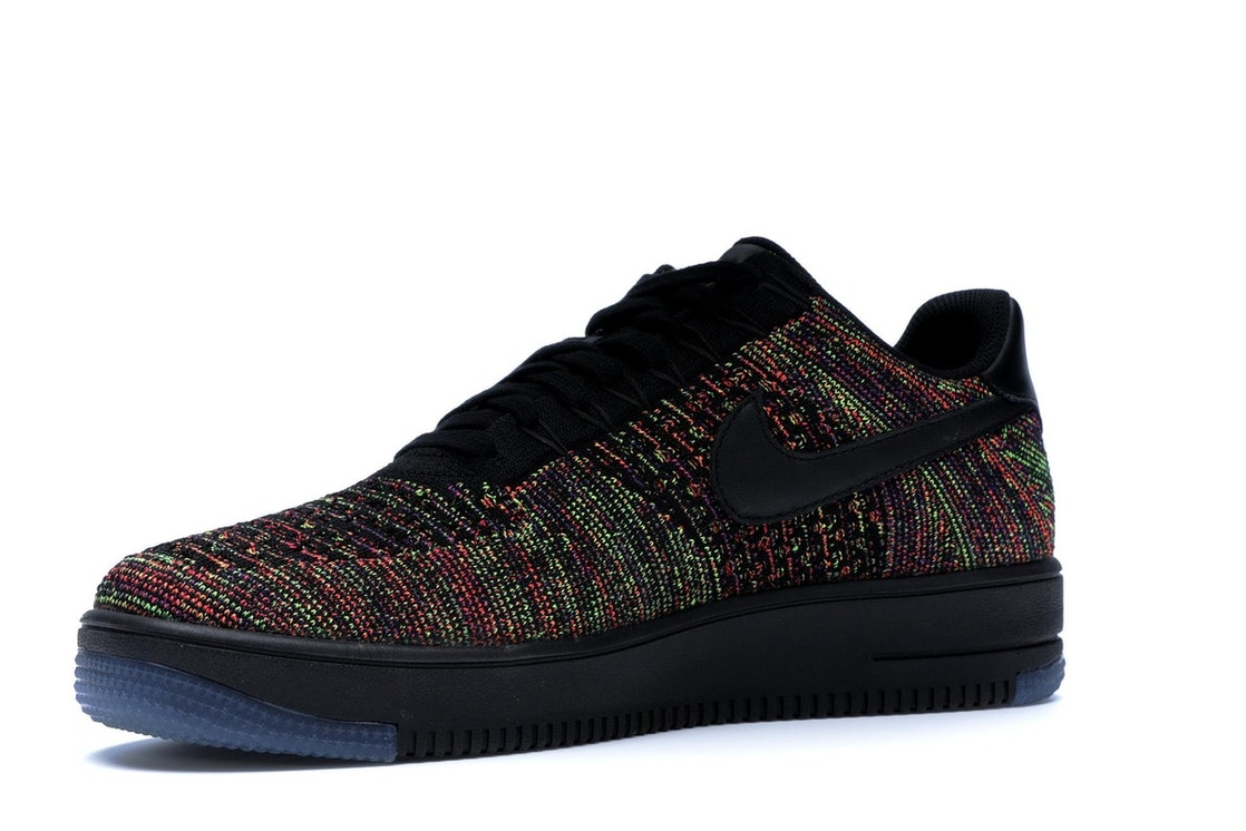 new concept ad14b d15fe Air Force 1 Low Flyknit Black Multi-Color - 817419-001