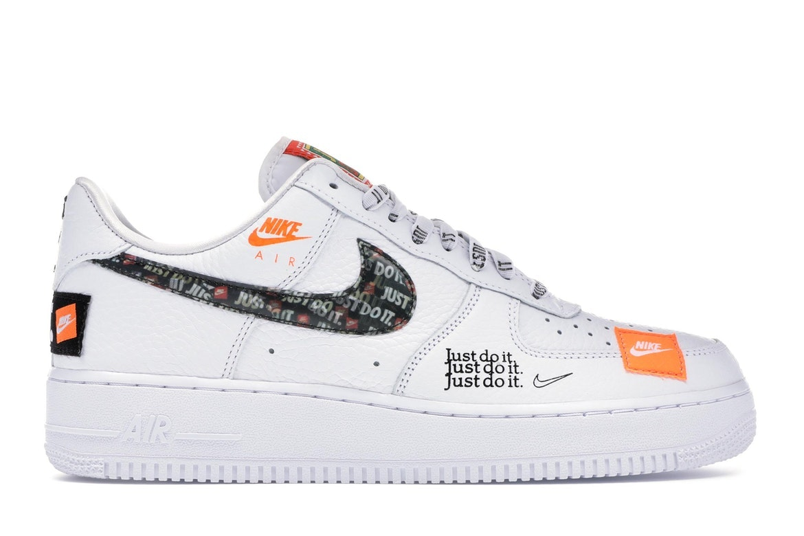 nike air force 1 just do it premium whait