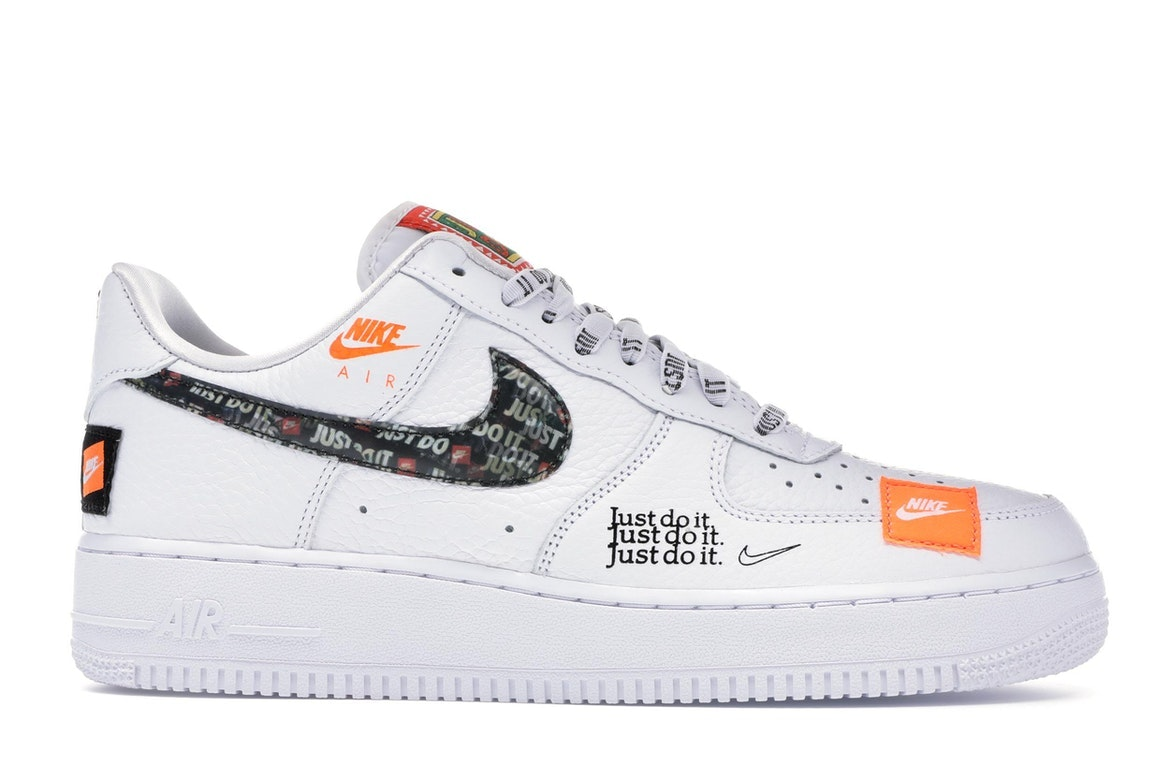 nike air force 1 just do it orange femme