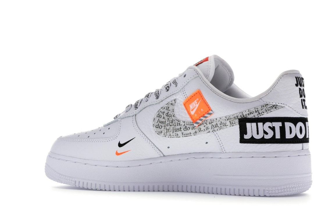 Histérico diferente a Respeto a ti mismo  Nike Air Force 1 Low Just Do It Pack White/Black - AR7719-100