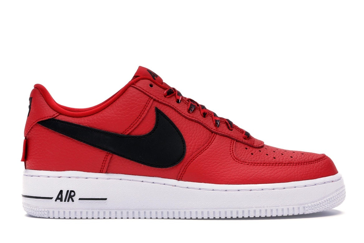 Nike AF 1 Low NBA 'University Red & Black & White' Release