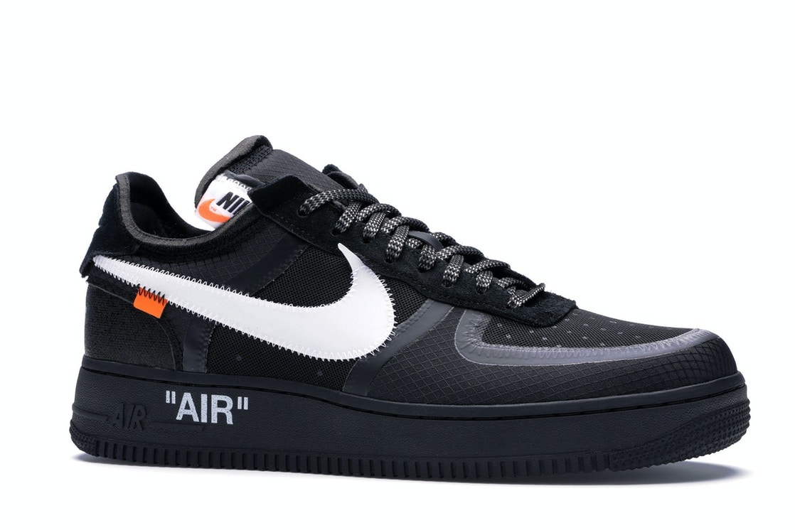 01e97467af861 Air Force 1 Low Off-White Black White - AO4606-001