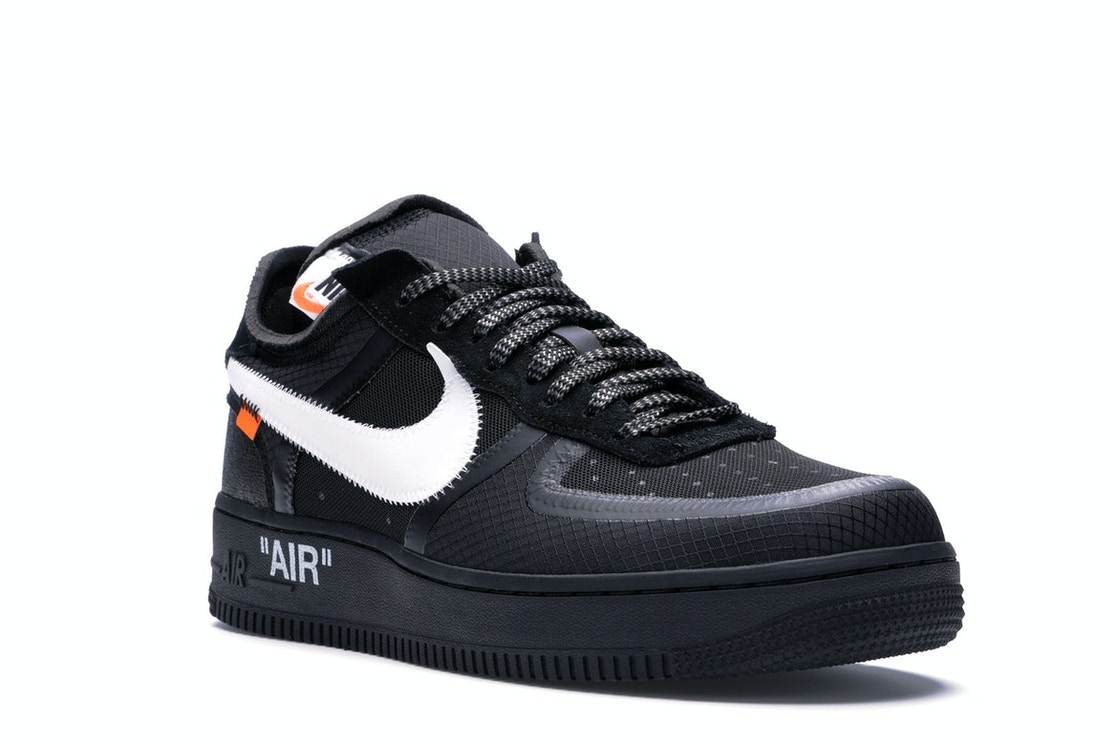 Air force 1 low off white black white ao4606 001