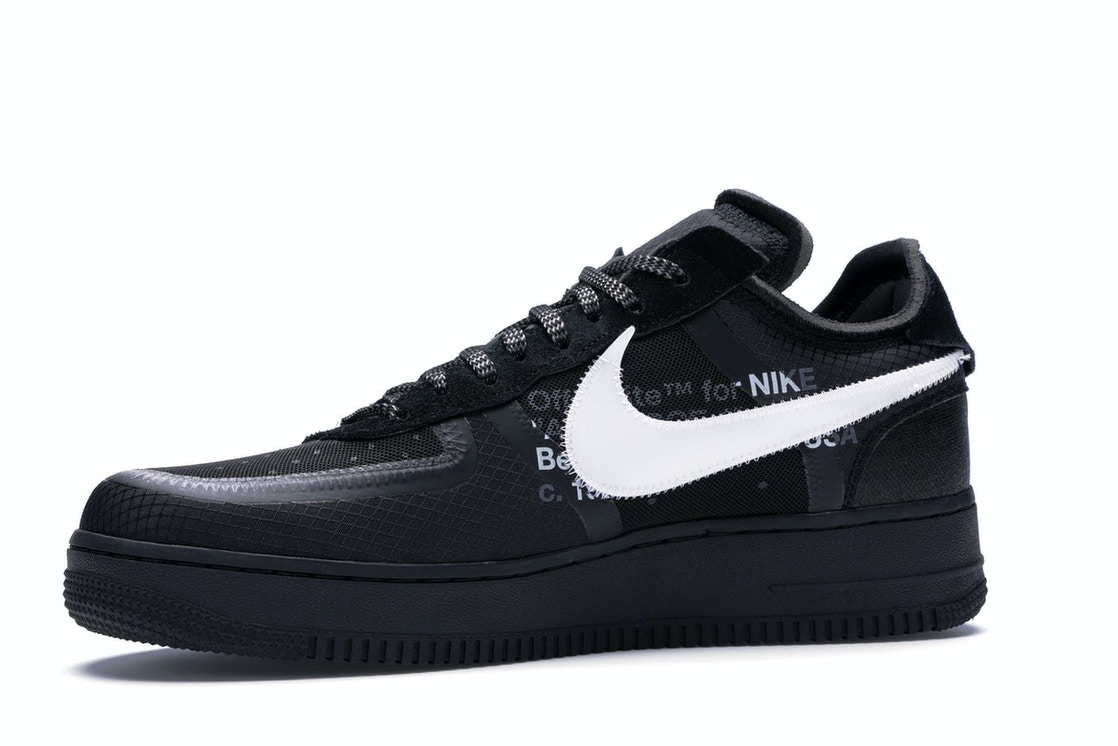 f644358be335cc Air Force 1 Low Off-White Black White - AO4606-001
