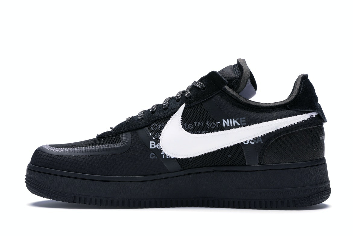 2018 Nike The 10 Off White Air Force 1 Low Black White CB