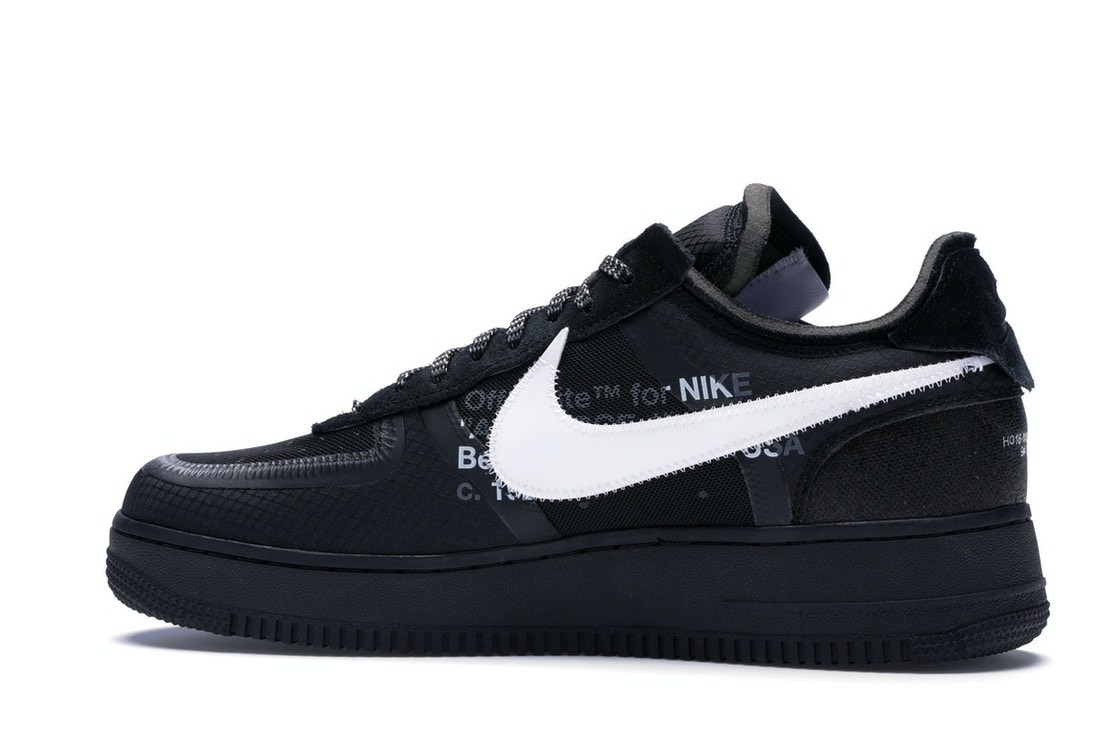 sports shoes 0c7c6 ecb37 Air Force 1 Low Off-White Black White - AO4606-001