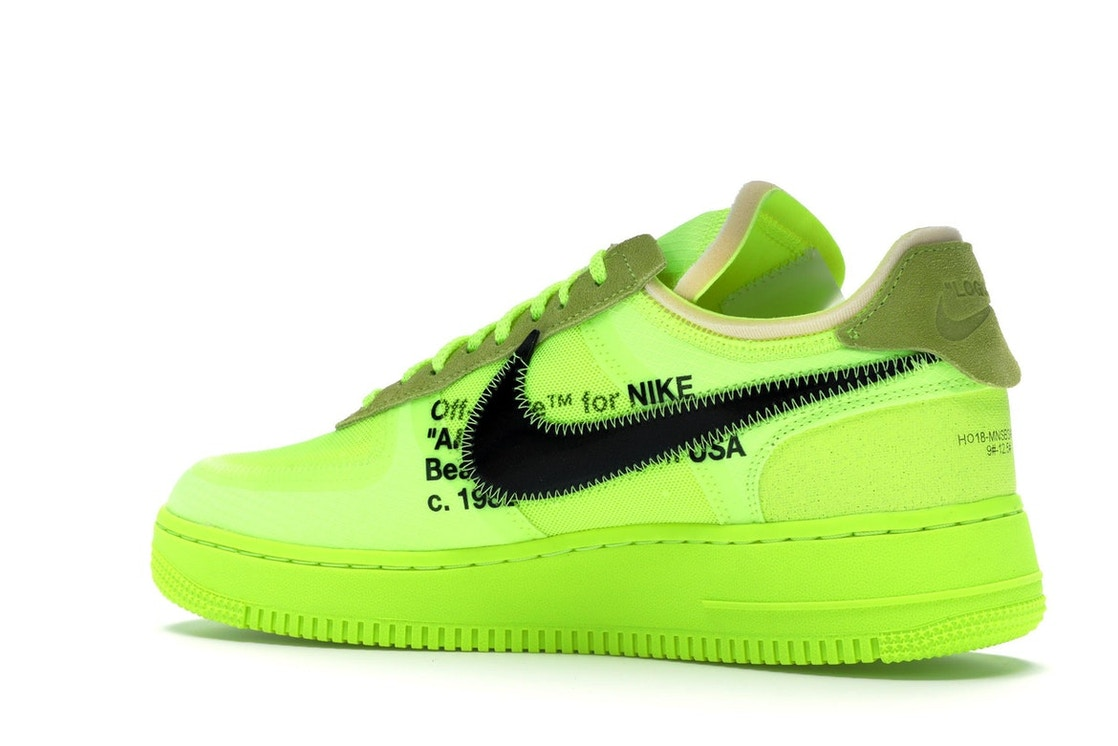 87a6c9c68f63 Air Force 1 Low Off-White Volt - AO4606-700