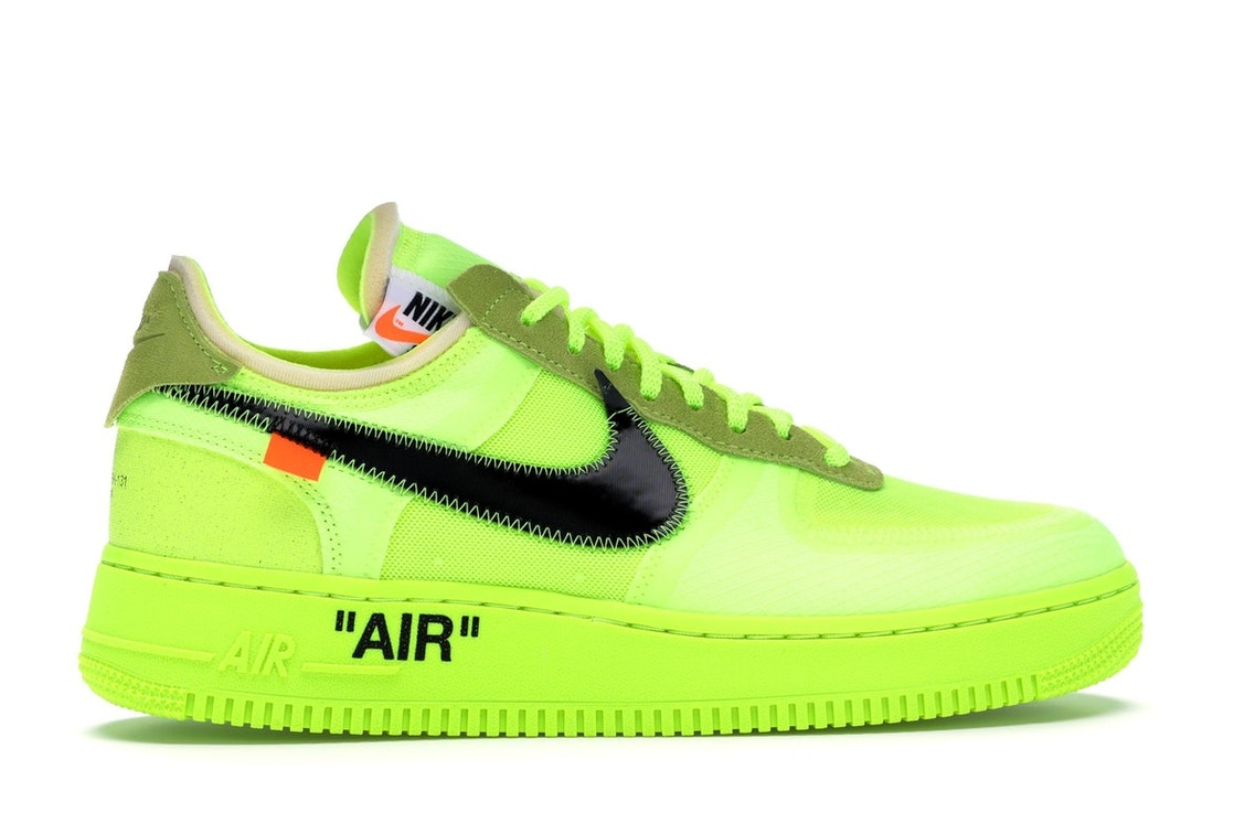 camarera Pirata Basura  Nike Air Force 1 Low Off-White Volt - AO4606-700