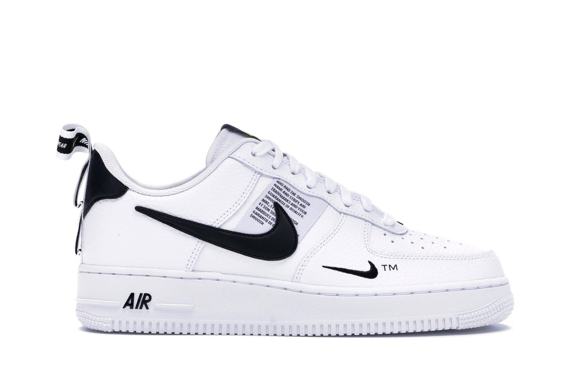 running shoes sleek sneakers Air Force 1 Low Utility White Black
