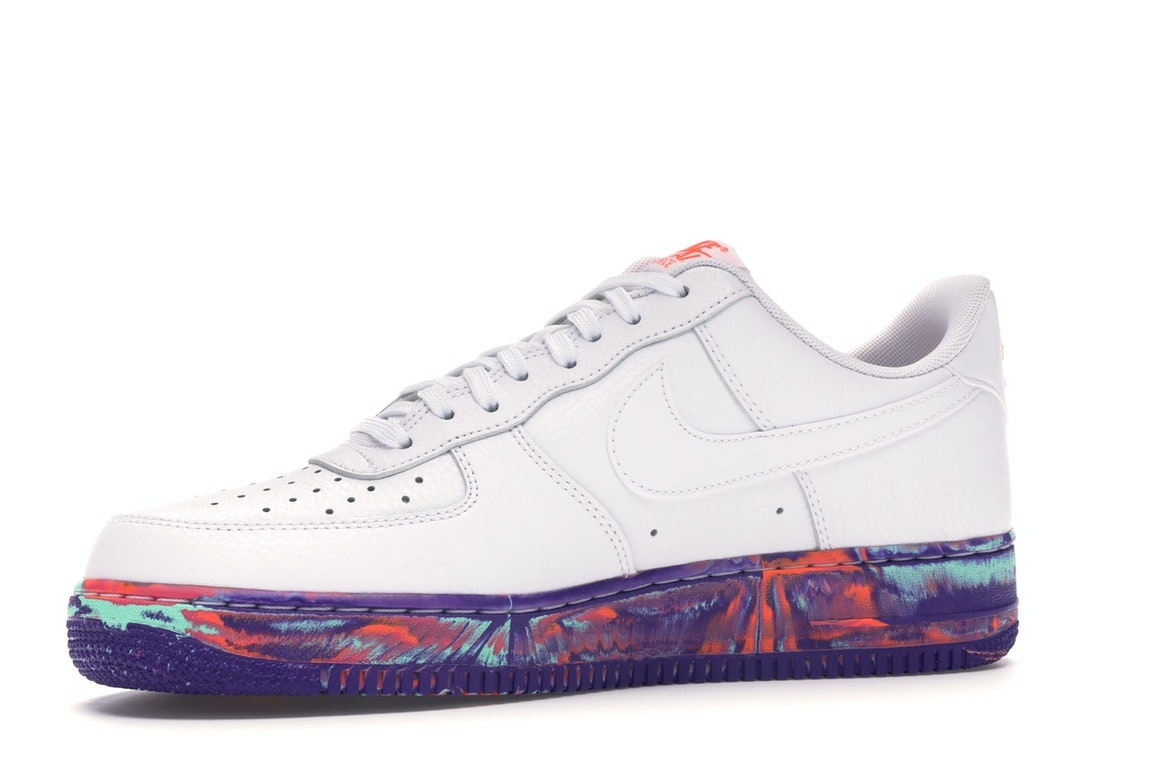 Air Force 1 Low White Multi Color Marble