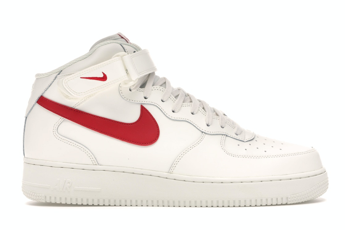 Ruina cuscús Estallar  Nike Air Force 1 Mid Sail University Red - 315123-126