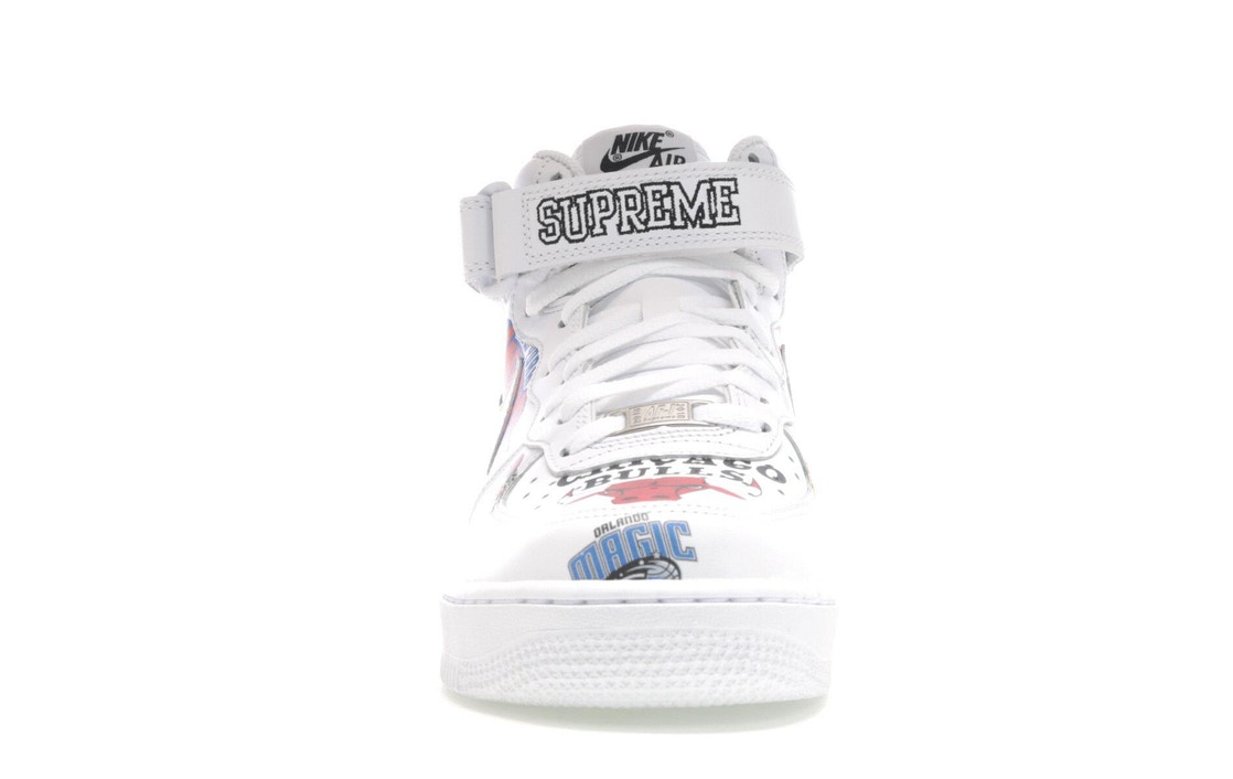 new concept 32ad9 bc5ca Air Force 1 Mid Supreme NBA White - AQ8017-100
