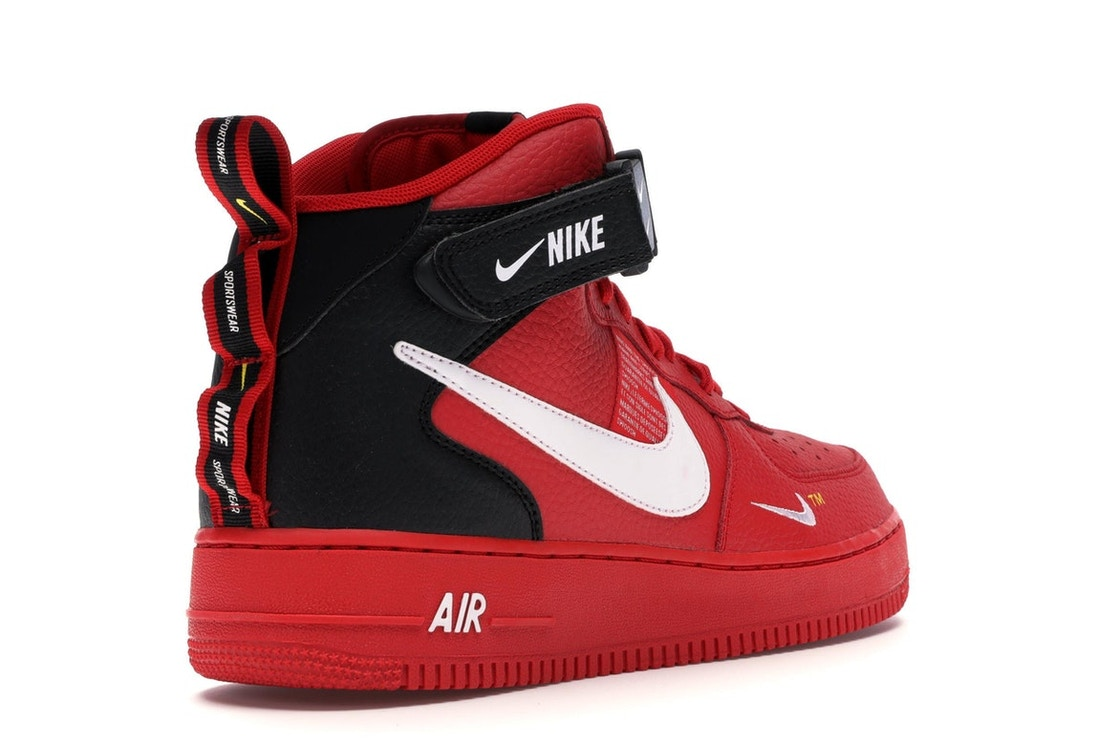 pretty nice 19675 aa647 Air Force 1 Mid Utility University Red - 804609-605