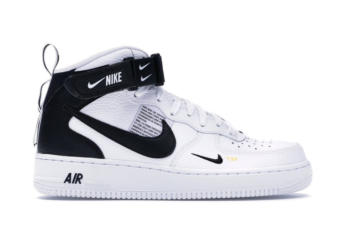 buy online be10f 886c2 Air Force 1 Mid Utility White Black