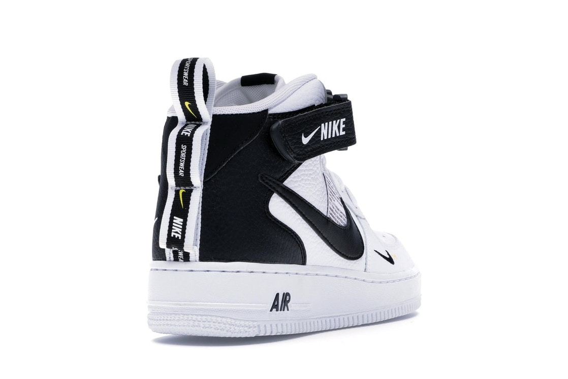 sports shoes a6fa8 cfebb Air Force 1 Mid Utility White Black - 804609-103