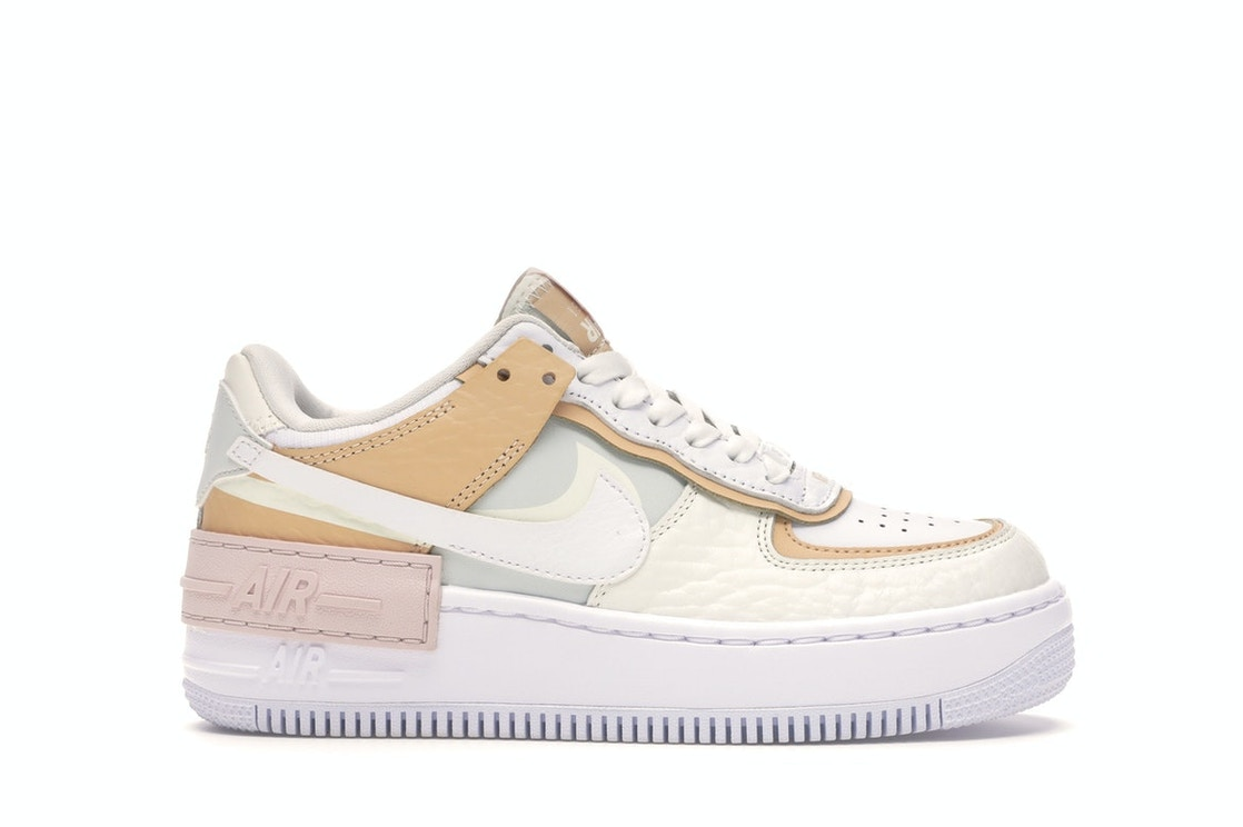 Nike Air Force 1 Shadow Spruce Aura W Ck3172 002 Nike's air force 1 shadow gets a touch of peach and pastel pink accents: nike air force 1 shadow spruce aura w