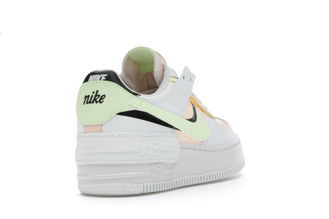 Nike Air Force 1 Shadow Summit White Barely Volt Crimson Tint W Ci0919 107 Nike air force 1 shadow surfaces in triple white. nike air force 1 shadow summit white barely volt crimson tint w