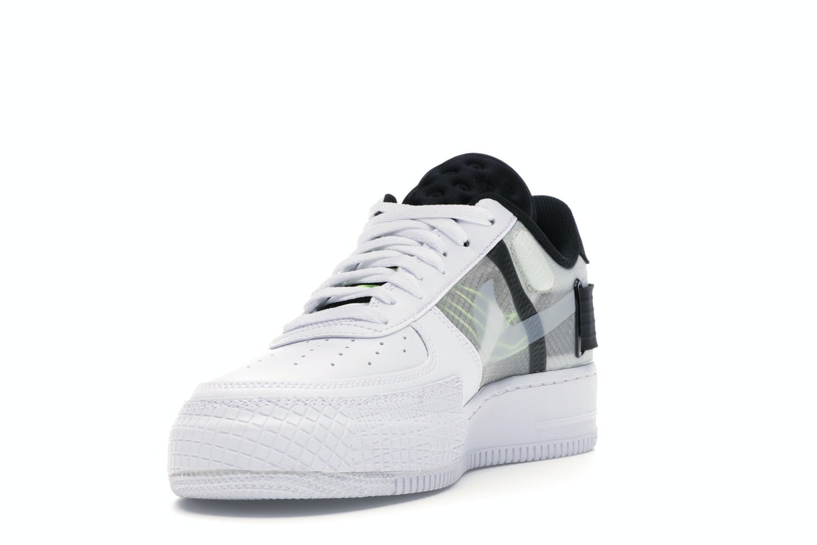 Nike Air Force 1 Type White Black Volt AT7859 101 Release