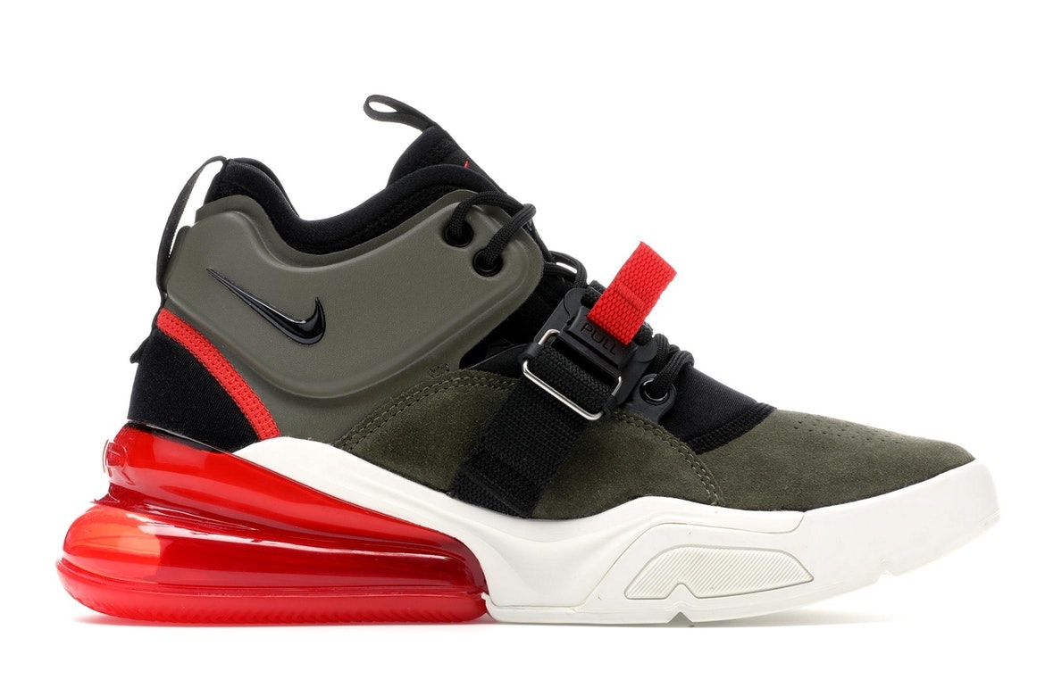 Air Force 270 Medium OliveChallenge Red