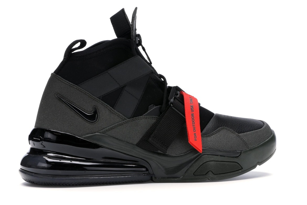 Nike Air Force 270 Utility SequoiaBlack Red Men's Lifestyle Shoes AQ0572 300 Size 10