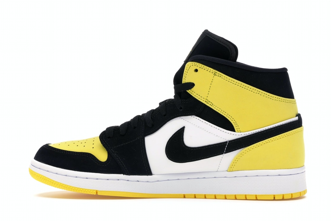 where to buy superior quality store Air Jordan 1 Mid Yellow Toe Black