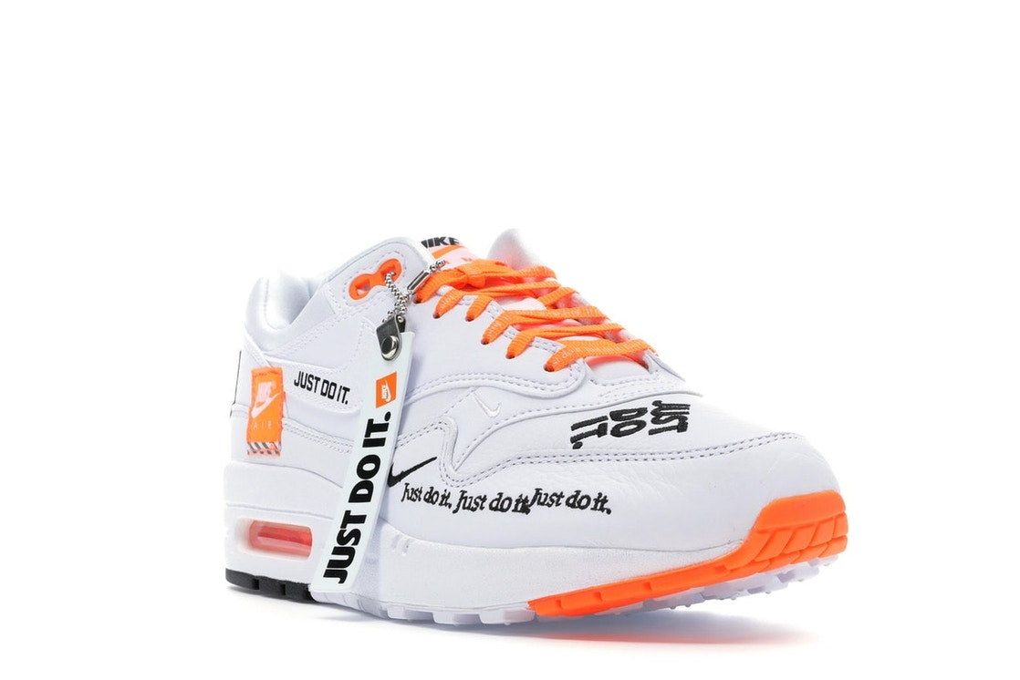 superávit Vuelo cache  Nike Air Max 1 Just Do It White (W) - 917691-100