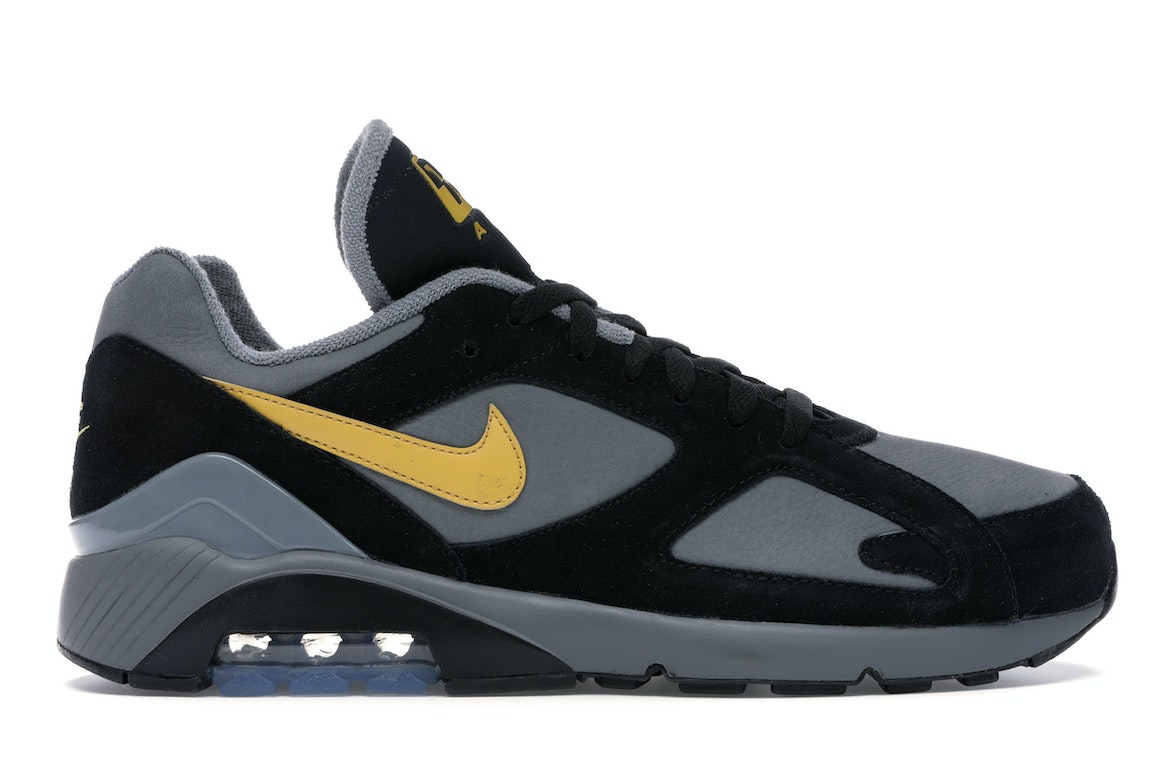 Air Max 180 Cool Grey Black Wheat Gold