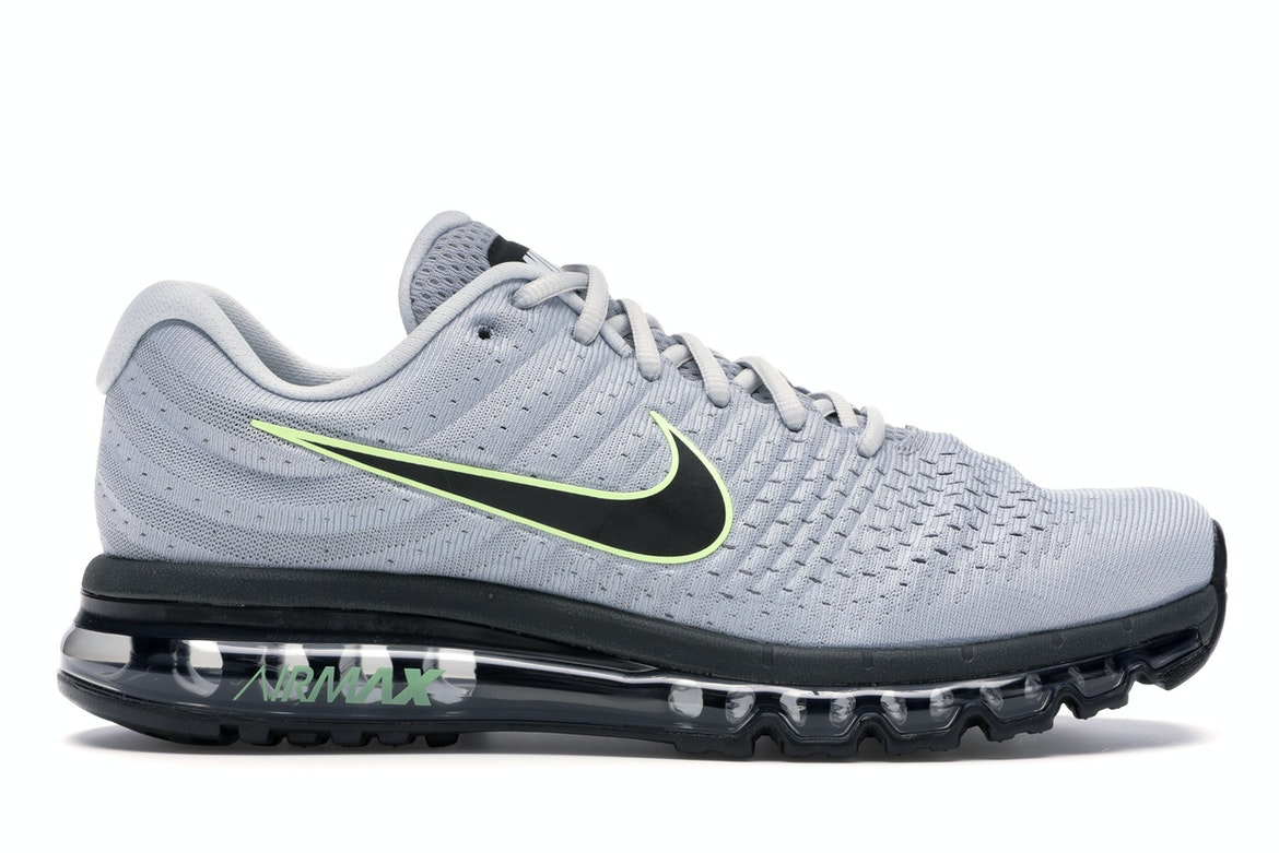Nike Air Max 2017 Wolf Grey Black Platinum 849559 012 Men's Running Shoes NEW!