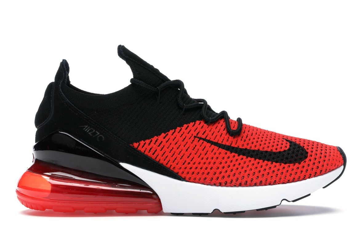 Details zu Nike Air Max 270 Flyknit Mens Shoes Red Black White Running AO1023 601 Size 13