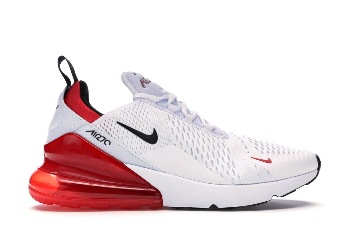 Nike Air Max 270 Red and Black with White For Sale