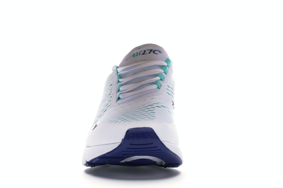 Air Max 270 White Hyper Jade Deep Royal Blue