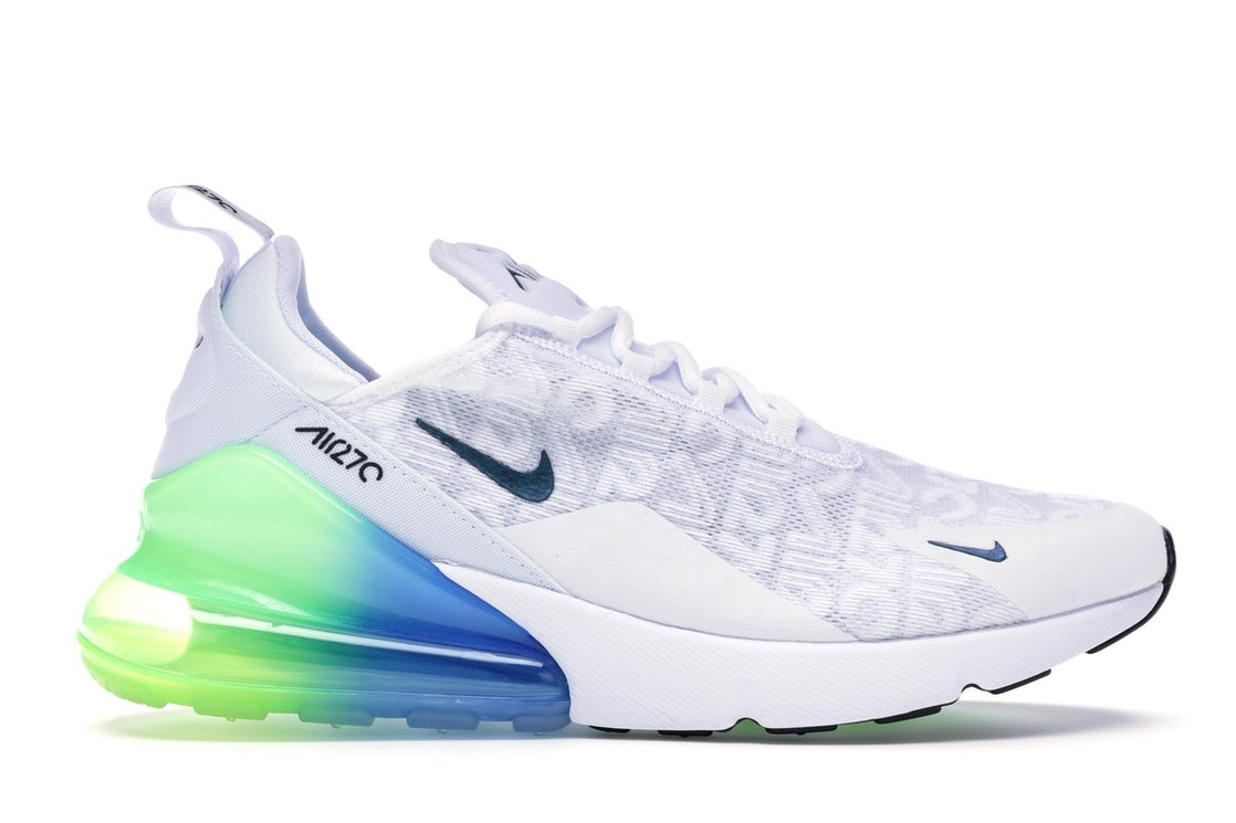 size 40 04ae9 3c56b Sell. or Ask. Size  10. View All Bids. Air Max 270 White Lime Blast Photo  Blue