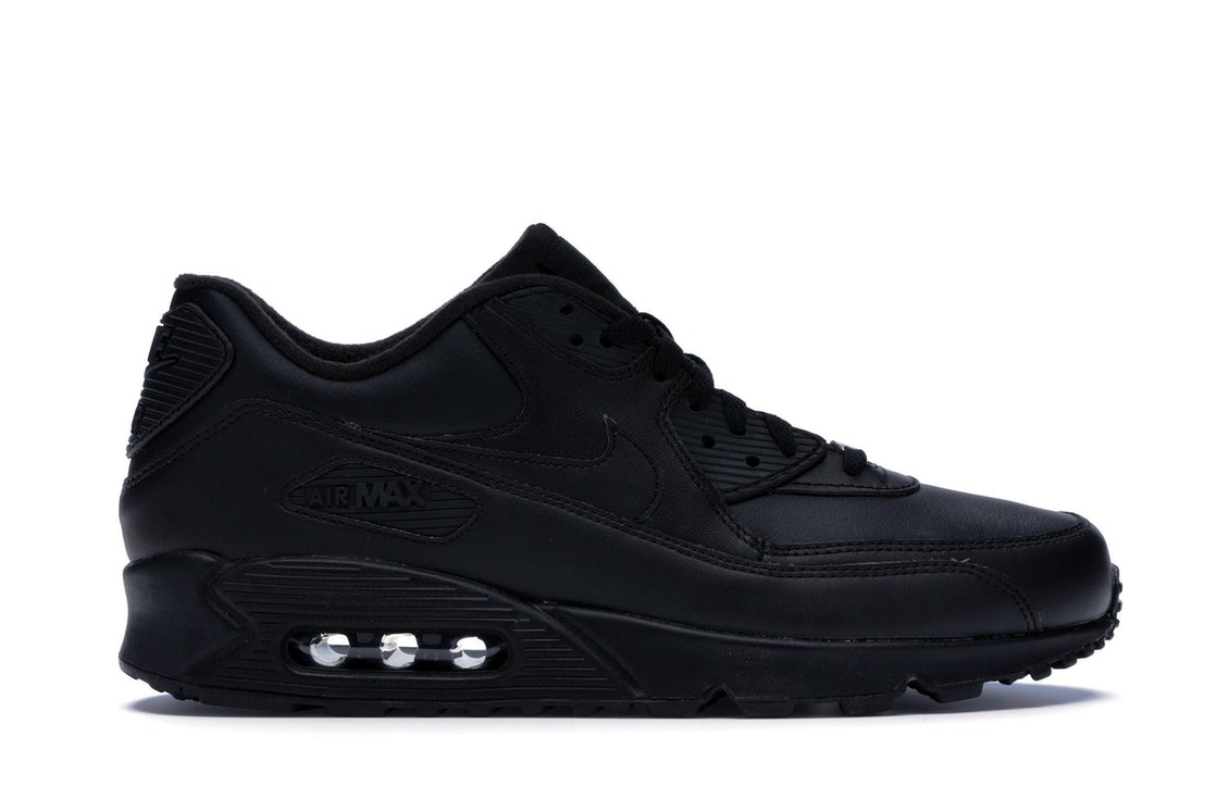 the latest 27aaa 46a3e Nike Air Max 90 Leather Black