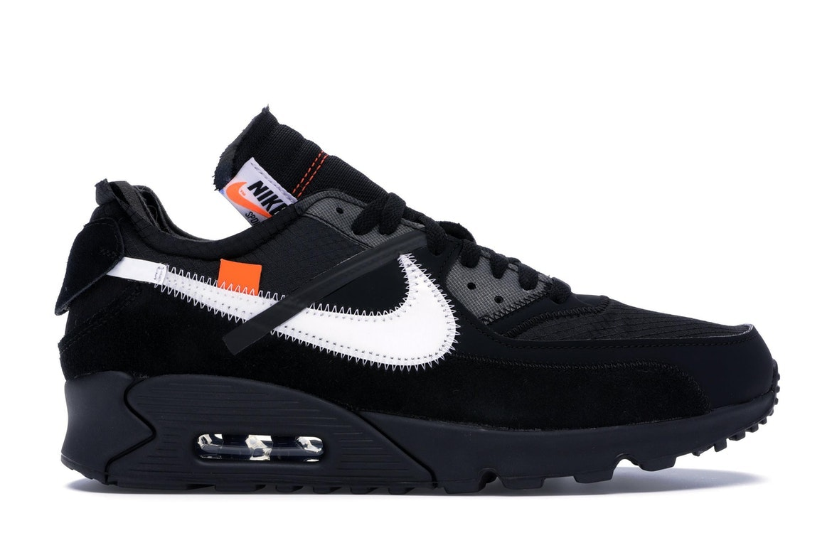Details about 'The Ten' Off White x Nike Air Max 90 Black UK 9
