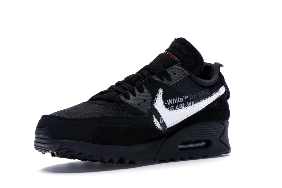 outlet store 35eee ccdb3 Air Max 90 OFF-WHITE Black - AA7293-001
