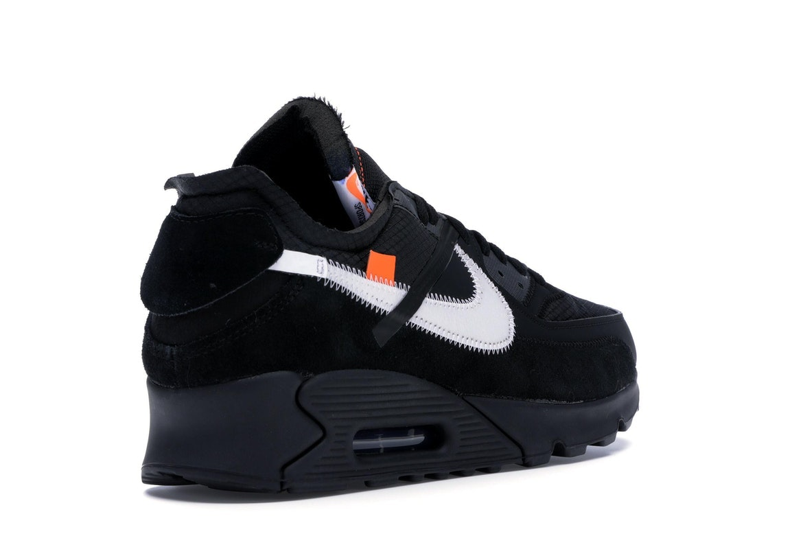 Details about Nike Air Max 90 OFF WHITE Black Size 8 AA7293 001 New, DS