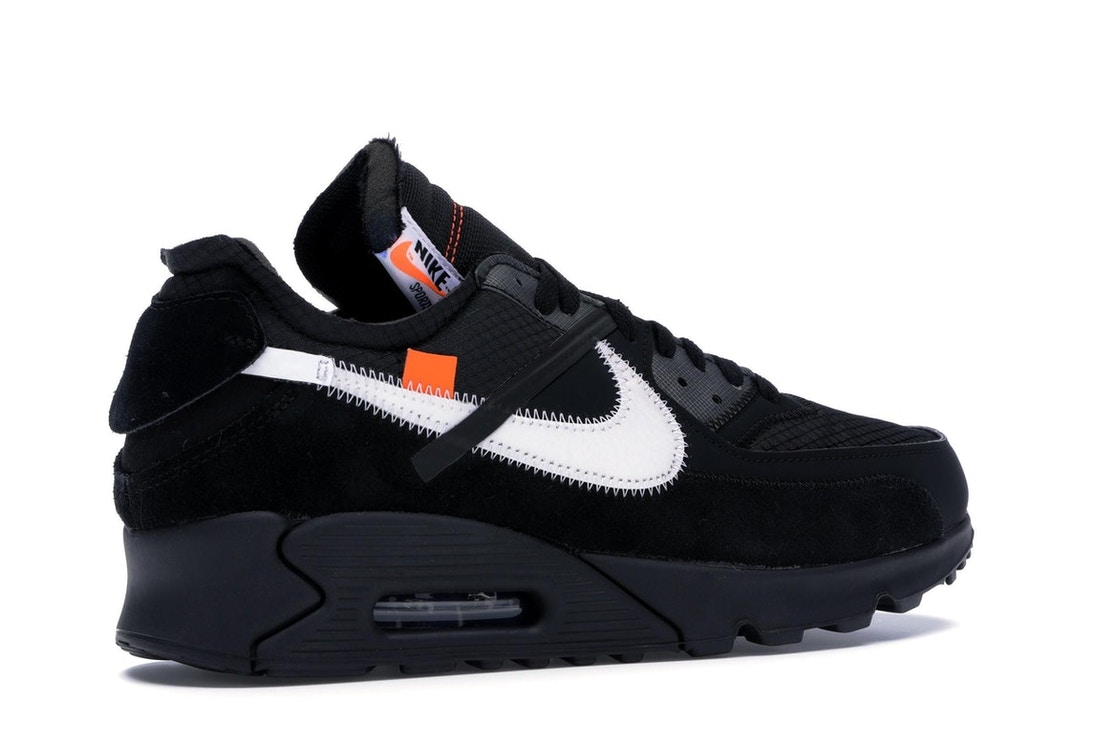 wholesale presenting best quality Air Max 90 OFF-WHITE Black