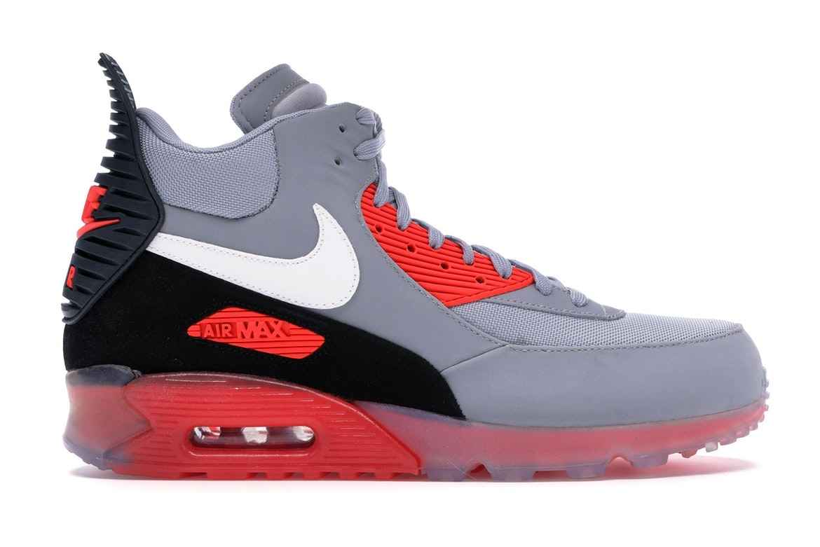 Nike Air Max 90 Sneakerboot Ice Wolf Grey Infrared