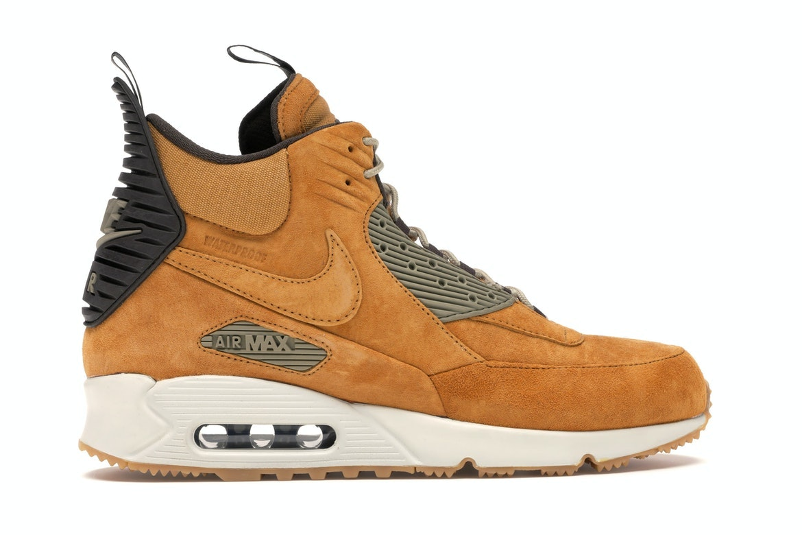 Nike Air Max 90 Sneakerboot Size 10 Bronze Bamboo Wheat 684714 700