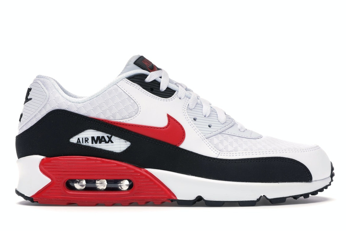 new styles e4e10 0306e Air Max 90 White University Red Black
