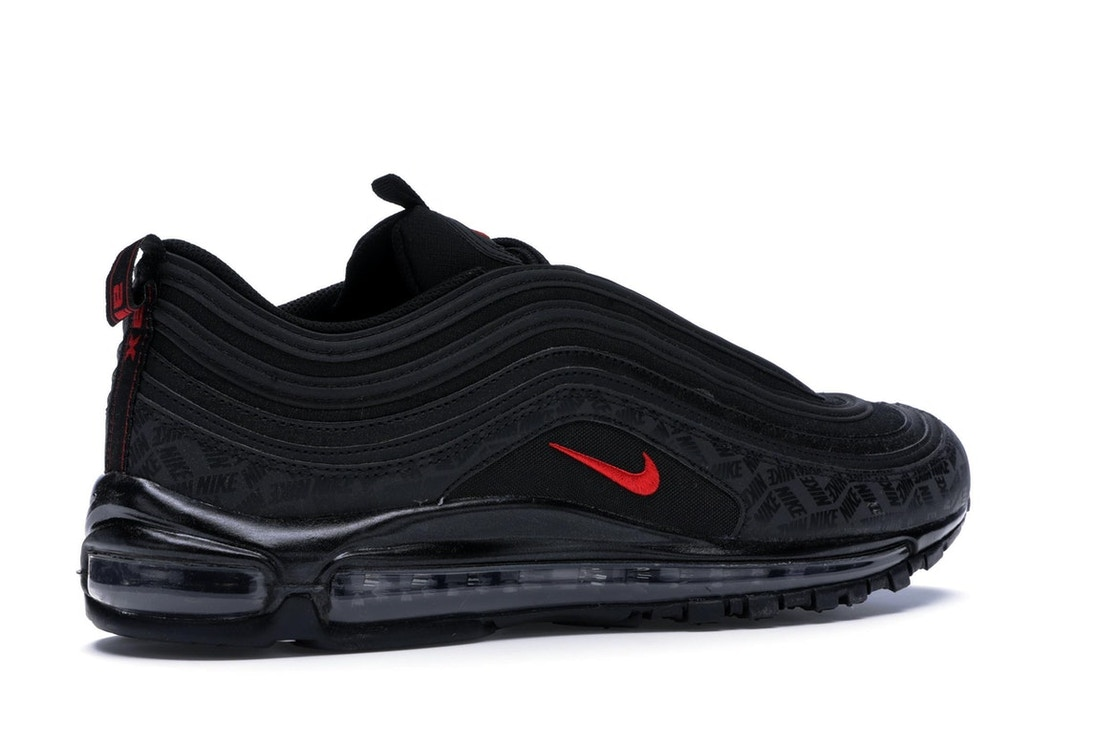 919227f378 Air Max 97 All-Over Print Black Red - AR4259-001
