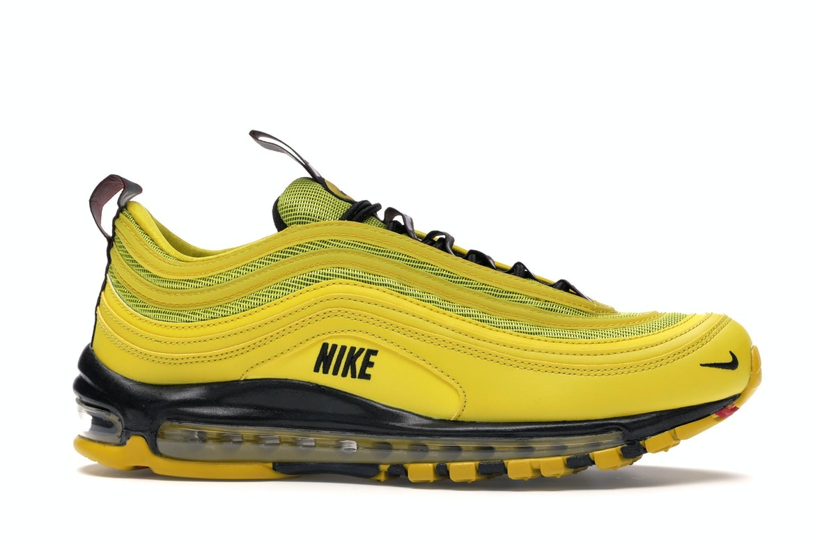 AUTHENTIC NIKE Air Max 97 Premium Bright Citron Black AV8368