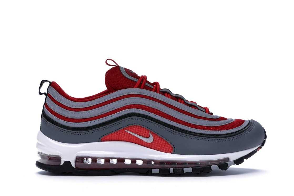 the latest a1096 6f516 Air Max 97 Dark Grey Gym Red