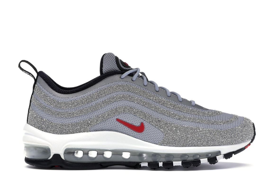 Online Nike W Air Max 97 LX X Swarovski To Be 927508 002 Silver Grey Swarovski Diamond Be 97 Bullet Women Shoes And Men Shoes Really Swarovski Crystal