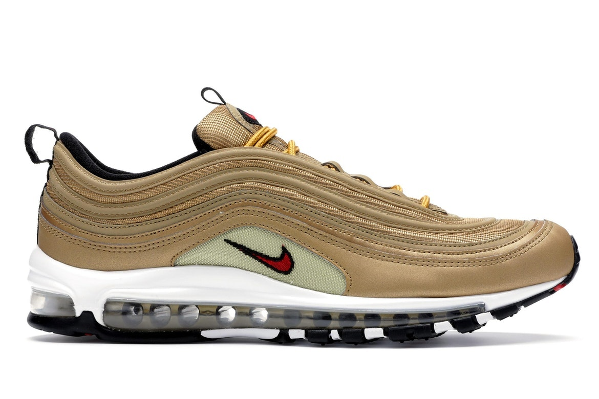 nike black and gold metallic air max 97 trainers